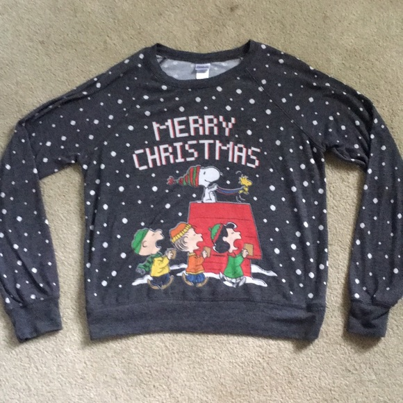 5 for 15 peanuts christmas sweater large